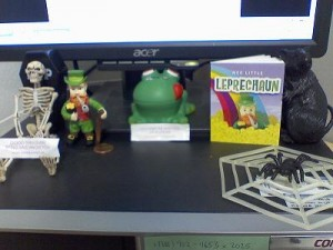 My desktop family; introducing the leprechaun.