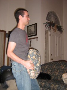 Russel humping a pillow during a game of 7 deadly sins.
