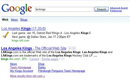Search Engine Results for 'la kings'