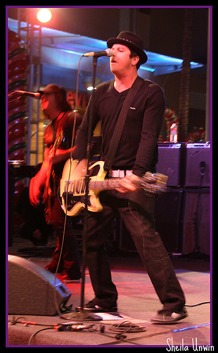 Scott Russo of Unwritten Law performing live.