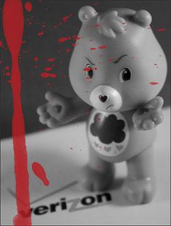 Grumpy Bear Hates Verizon Wireless