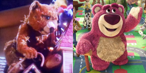 The old bear from The Christmas Toy and Lotso from Toy Story 3