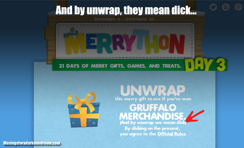 And by unwrap, we mean dick